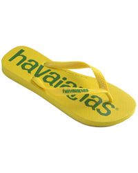 Havaianas Top Logomania Flip Flop - Yellow