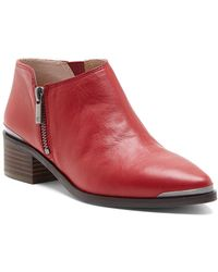 Lucky Brand Koben Leather Bootie - Red