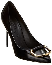 Burberry - Leather Court Shoes - Lyst