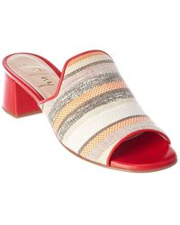 French Sole Duplex Leather Sandal - Red