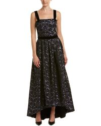 St. John Silk-lined Gown - Purple