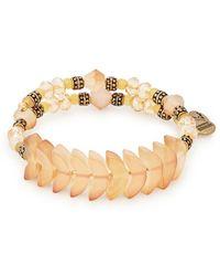 ALEX AND ANI Crystal Wrap Bracelet - Metallic