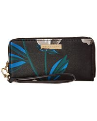 Trina Turk Zip Around Wristlet Wallet - Black