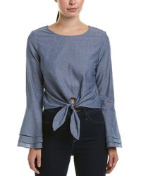 Likely - Tie-front Top - Lyst