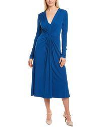 ESCADA Dahlias Midi Dress - Blue