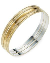 Anna Beck - Jewelry Set Of 3 Gold Bangles - Lyst