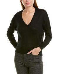 James Perse V-neck Cashmere Sweater - Black