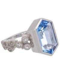 Judith Ripka Martinique Silver 6.07 Ct. Tw. Gemstone Ring - Metallic