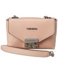 Valentino By Mario Valentino Lola Palmellato Gold Leather Crossbody - Pink