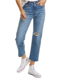 Levi's Wedgie Straight Jeans In Jive Tone - Blue
