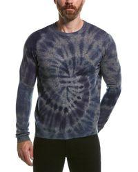 Autumn Cashmere Tie-dye Wool & Cashmere-blend Crewneck Sweater - Blue