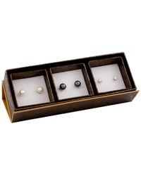 Splendid 14k 7-8mm Freshwater Pearl Drop Earrings - Black