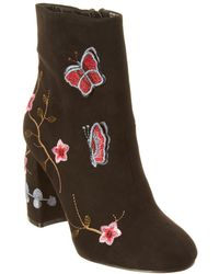 Nanette Nanette Lepore - Lilly Suede Bootie - Lyst