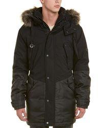Marc New York Long Oxford Down Parka Coat - Black