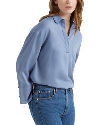 Club Monaco Popover Pocket Shirt - Blue
