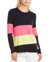 Sail To Sable Colorblock Wool & Cashmere-blend Jumper - Blue