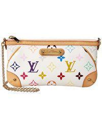 Louis Vuitton White Monogram Multicolore Canvas Milla