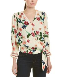 Laundry by Shelli Segal Twin Wrap Printed Blouse - Multicolor