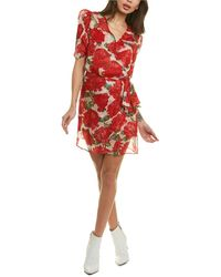 The Kooples Summer Peonies Faux Wrap Dress - White