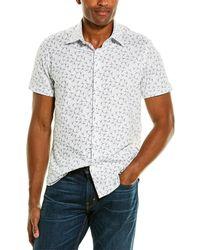 Stone Rose Printed Woven Shirt - White