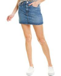 FRAME Denim Le Mini Skirt - Blue