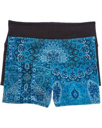 Chaser Set Of 2 Quadrablend Active Shorts - Blue
