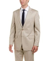 Brooks Brothers Regent Fit Suit With Flat Front Pant - Natural