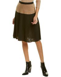 Three Dots Reversible A-line Skirt - Black