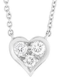 Heritage Tiffany & Co. Tiffany & Co. Platinum 0.17 Ct. Tw. Diamond Necklace - Metallic