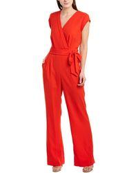Diane von Furstenberg Purdy Jumpsuit - Red