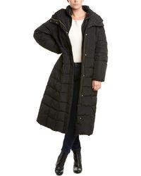 Cole Haan Long Down Puffer Coat - Black