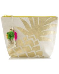 Shiraleah Pineapple Cosmetic Pouch - Metallic