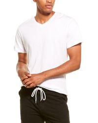 Monrow Relaxed V-neck T-shirt - White
