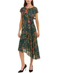 Donna Morgan Midi Dress - Green