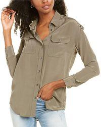 AllSaints Allsaints Octavia Silk-blend Shirt - Natural