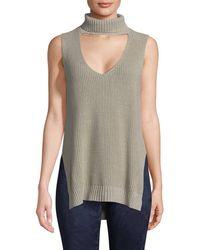 BCBGeneration - Sleeveless Choker Sweater - Lyst