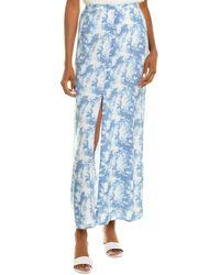 Bobeau Soul Cake Maxi Skirt - Blue
