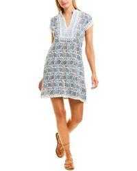 Sulu Collection Crinkle Shift Dress - Blue