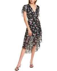 Parker Lizzy Silk-blend Midi Dress - Black