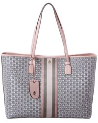 Tory Burch Gemini Link Canvas Tote - Pink