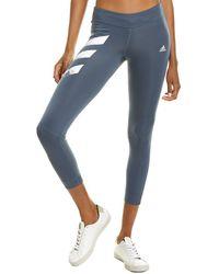 adidas Own The Run 3 Stripes Tight - Blue