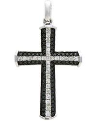 Diana M. Jewels 18k 0.51 Ct. Tw. Diamond Cross Enhancer - Multicolour
