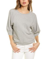 AMO Puff Sleeve Sweatshirt - Gray