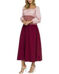 English Factory Midi Dress - Purple