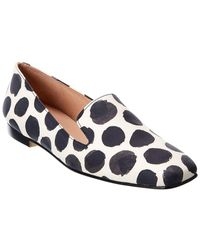French Sole Duet Leather Loafer - White