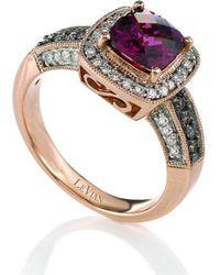 Le Vian ? 14k Strawberry Gold? 2.03 Ct. Tw. Diamond & Rhodolite Ring - Metallic