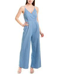 Line & Dot Bonnie Jumpsuit - Blue