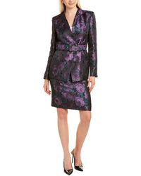 Tahari 2pc Jacket & Pencil Skirt Set - Black
