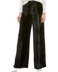 ATM Anthony Thomas Melillo Velvet Wide Leg Silk-blend Pant - Black