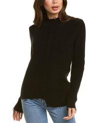 Bobi Frayed Sweater - Black